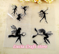 Wholesale cm Fairy Spirit Design Angel Pattern Clear Silicone Rubber Stamp sheet A1004