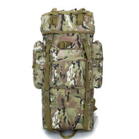 basketball brackets - 70 L Metal Bracket Backpack Outdoor Sports Bag Military Tactical Bags Hiking Camping Waterproof Wear resisting Nylon Bag