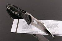 Oferta especial de fibra de carbono de la manija EDC bolsillo plegable Cuchillo 440C Satin Blade al aire libre Camping Senderismo Tactical cuchillos con caja de venta al por menor