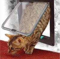 Wholesale Brown Large Way Pet Cat Kitten Dog Supply Lock Lockable Safe Flap Door