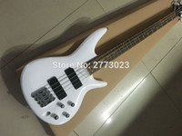 Wholesale High quality white string electric bass Factory and retail Can customize