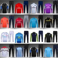 Wholesale Aaa Best quality to Real Madrid soccer tracksuit chandal Chelsea football tracksuit training suitpsg skinny pants Sportswear
