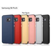 Caso delgado de lujo de la armadura para el iPhone 7 más 6 6s más Samsung S8 más J2 J3 J5 J7 Textura de la fibra del carbón cepilló el caso suave de la contraportada de la PC TPU + PC