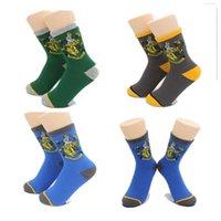 athletics costumes - Harry Potter Socks Ravenclaw Gryffindor Hosiery Slytherin Hufflepuff Socks Cosplay Costume Socks School Striped Badge crew cotton Socks Gift