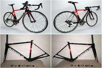Wholesale The Newest model of Black Red Argon carbon complete bike with T1100 K Argon road bike carbon Frames mm carbon bike Wheels
