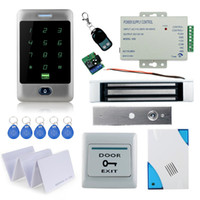 Wholesale Full waterproof access control C30 touch keypad KG magnetic lock power supply exit button key cards remote control