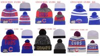 Cheap Free Shipping By DHL 2016 world series champs cubs beanies Winter High Quality Beanie For Men Skull Caps Skullies Pom Knit Snapback Hats