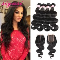 Wholesale Grade A Unprocessed Bundles Brazilian Body Wave With Lace Closure Brazillian Body Wave Hair Wefts Bundles With Closures