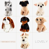 7 pulgadas lindo perro peluche muñeca relleno de animales suaves de juguete Husky perro pug perro de peluche animales juguetes de peluche muñecas niños regalo de Navidad