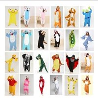 Wholesale 20 style Giraffe Kigurumi Pajamas Animal Suits Cosplay Halloween Costume Adult Garment Cartoon Jumpsuits Unisex Animal Sleepwear