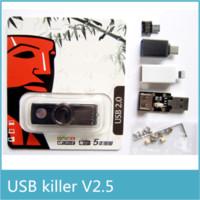Wholesale New Arrival Upgraded USB Killer V2 Engraved Version U Disk Killer Miniature High Voltage Pulse Generator Accessories Complete