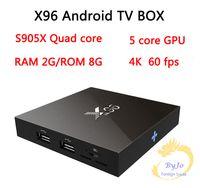 Wholesale X96 TV Box S905X G G or G G Amlogic Quad Core Android Wifi HDMI A K K Kodi Marshmallow Media Player Set top box