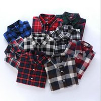 Wholesale NEW FASHION EURO STYLE PLAID PRINT TURN DOWN COLLAR WHITE COTTON BLOUSE ELEGANT LADY CASUAL BLOUSE SHIRTS Big SIZE XXXL