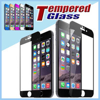 Wholesale 9H Hardness Colorful Screen Protector Colorful Premium Tempered Glass Body D Round Edge For iPhone Plus S S quot quot MOQ