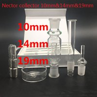 Wholesale Nector collector mm mm mm with Gr2 titanium nail domeless quartz nails water oil rigs glass bong