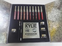 Wholesale Drop Ship Kylie Lip Kit by kylie jenner Velvetine Liquid Matte Lipstick Lip Pencil Gloss colors Black Box Kylie Holiday Big Box