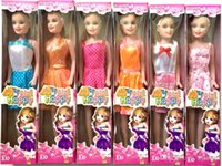 Wholesale NEW Mini Princess Barbie Doll Baby Dolls Kids Cartoon Toys For Children Girl Doll Brinquedos Meninas With Box