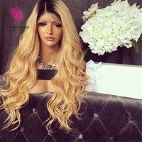 average fashion - 9A Grade Density Human Hair wigs Ombre b fashion wave full lace wig Virgin hair glueless wig lace front wig