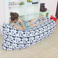 Wholesale Outdoor Inflatable Air Sleeping Bag Portable Sofa Hangout Lounger Camping Fast Inflatable Sleeping Bed Hammock Air Boat Air Lazy Sofa F505