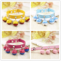 Wholesale Fashion Variety Of Styles Colorful Brightly Colored Cartoon D Doll Dog Chains And Cat Chains With Bells Leash