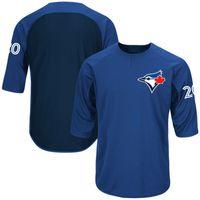 Baseball Men Short Men's Toronto Blue Jays Josh Donaldson Jerseys 100% Stitched Authentic Collection On-Field 3 4-Sleeve Player Batting Practice Jersey