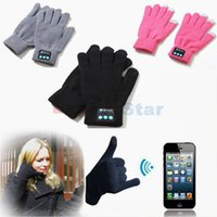 Wholesale Winter Bluetooth Gloves Wireless Warm Knitted Touch Screen Sport Gloves with Microphone Handsfree for Mobile Phones Men and Women