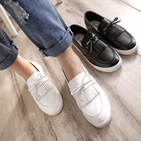 Wholesale New Arrive Women Four Seasons Fashion PU Leather Single Shoes Female Casual Slip On Comfort Shoes Low heeled Shoes Loafers