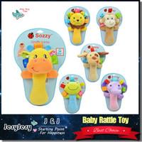 0-12 Months animals mobile - infant baby toys lovely animal hand bell baby Rattles plush stuffed toy children mobiles sounding educational developmental ring handbell