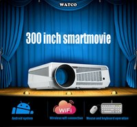 advertising education - WIFI Android LED86 LED Projector D Theater Projection True Lux Full HD Bluetooth Business Advertising Education D Projector