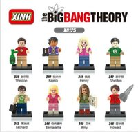 big building block - XINH The Big Bang Theory set Minifigures Sheldon Leonard Penny Howard Rajesh Amy Bernadette Building Blocks Models Brick Christmas Toys