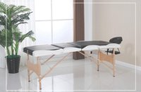 Wholesale Factory Direct Wooden Section Portable Massage Table Facial SPA Tattoo Bed