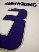 Wholesale Youth Jake Browning Replica White purple Washington Huskies Alumni jersey
