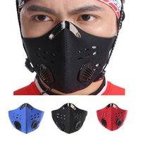 Al por mayor-3 colorea el esquí de la motocicleta del Paintball de las máscaras de mascarilla del filtro del polvo anti del deporte al aire libre que completaba un ciclo que protege las máscaras Envío libre