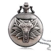 Wholesale Top Game Theme The Witcher Wild Hunt Vine Pocket watch Men Chain Boy Pendant Gift Popular Relogio De Bolso