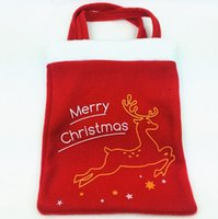 ag shops - Christmas Bag Shopping Handbag Xmas Gift B ag Card Chris tmas Candy Bag Gift Xmas Nonwovens Cloth Bag Christmas Decoration