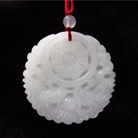 antique jade carvings - Antique hand carved white jade dragon pendant fashion gossip natural jade jewelry gift