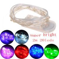 30pcs venden al por mayor los colores al por mayor de la decoración del hogar del partido de Navidad de la luz CR2032 de la hada de la secuencia del mejor precio los 2M 20 LED