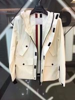 Men american trench coat - 2017 luxury brand mon men s trench coats outwear male jackets European and American Style hooded Water Resistant High quality white M XXXL