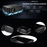 Wholesale lumens Full HD P Portable Home Theater Projector LCD LED Video Mini Projector Beamer Projetor SD50plus