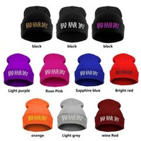bad hair dye - DHL Free Beanie Hats for Girls Fashion Winter Hat for Women Casual Women Hat Bad Hair Days Knitted Skullies Beanies Hats for Men