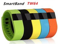 Wholesale 10 Colors FITBIT Style TW64 Wristband Smart Band Fitness Activity Tracker Bluetooth Smartband Sport Bracelet For IOS Android Phone