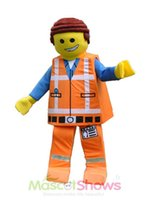 Wholesale Lego Man Mascot Costume Carnival Character Costume Fancy Dress Halloween Chrismas Party
