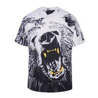 big mens graphic t shirts - Big size d print aninals printing high quality loose mens t shirts graphic tide brand hip hop fat boys mens tshirt