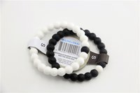 Wholesale Newest Original Black and White Silicone bracelets colors Shark Mud beaded bracelets with Tag free UPS