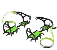 Wholesale 2017 New Men s Green Crampons Ski Belt High Altitude Hiking Slip resistant Crampon Ice Gripper for Winter Outdoor Skiing