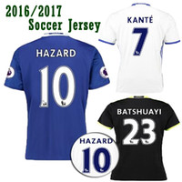 Wholesale 2017 Chelsea Club Team Home Blue Away Black Third White Football Soccer Jerseys Shirt HAZARD DIEGO COSTA MATIC TERRY KANTE FABREGAS IVANOVIC