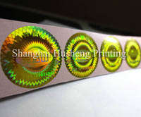 Wholesale customized made void gold hologram label printing sticker Free design void if removed