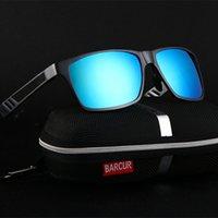achat en gros de hd polarisée-Haute qualité Aluminium HD Polarized TAC Lunettes de soleil Hommes Lunettes de soleil polarisées Lunettes de lunette carrée Gafas oculos de sol masculino