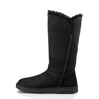 Wholesale Classic Style Knee Snow Boots Waterproof Flat Plain Thicken Round Toes Slip on Winter Shoes for Women