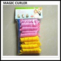 bendy hair curlers - 18pcs DIY Amazing Magic Leverag Hair Curlers Curlformers Plastic Hair Roller Hooks Hair Styling Tools